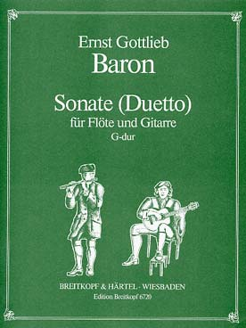 Illustration baron sonate pour flute et guitare
