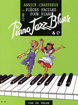 Illustration chartreux piano jazz, blues & co livre 2