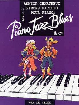 Illustration chartreux piano jazz, blues & co livre 3