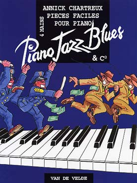 Illustration chartreux piano jazz, blues & co 4 mains