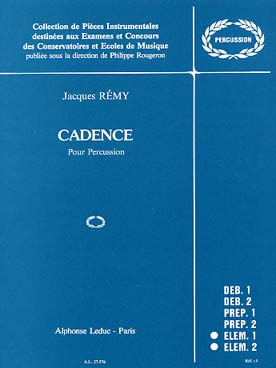 Illustration remy cadence pour percussion
