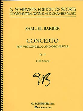 Illustration barber concerto pour violoncelle