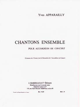 Illustration apparailly chantons ensemble