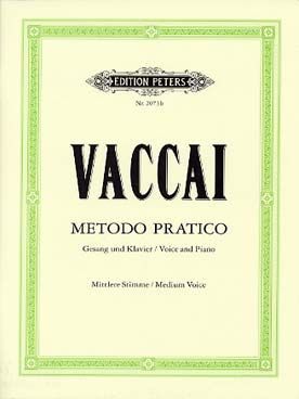 Illustration vaccai methode chant peters v moyenne