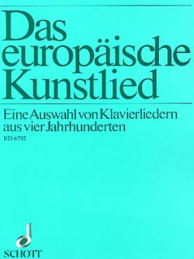 Illustration europaische kunstlied (das)
