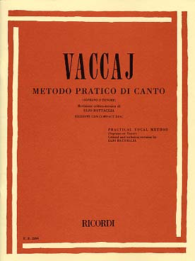 Illustration vaccai methode chant ricordi v elevee+cd