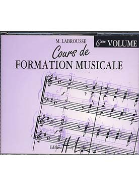 Illustration labrousse cours formation musicale 6*cd*