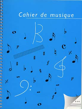 Illustration cahier grand format 96 pages 12 portees