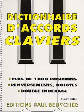 Illustration chierici dictionnaire d'accords claviers