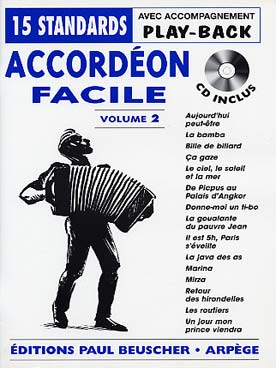 Illustration accordeon facile avec cd vol. 2