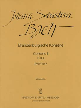 Illustration bach js concerto brand. bwv 1047 cello