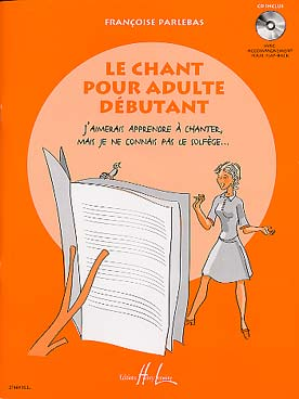 Illustration parlebas chant pour adulte debutant + cd