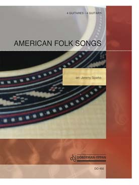 Illustration american folk songs pour 4 guitares