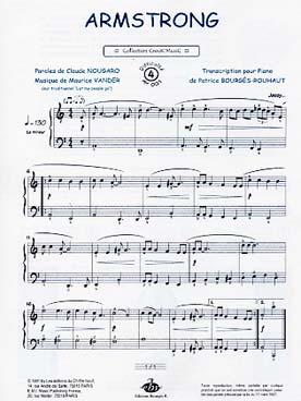 partition piano armstrong nougaro