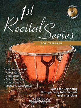 Illustration first recital series avec cd timbales