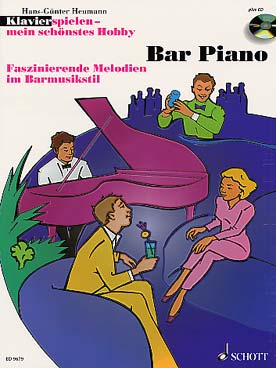 Illustration bar piano : melodies fascinantes