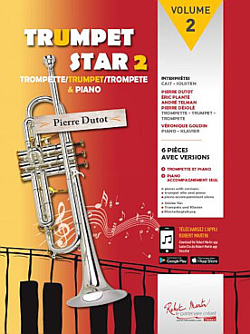Illustration trumpet star avec cd vol. 2