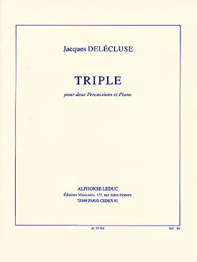 Illustration delecluse triple pour 2 percussions/pno