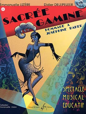 Illustration sacree gamine spectacle musical + cd