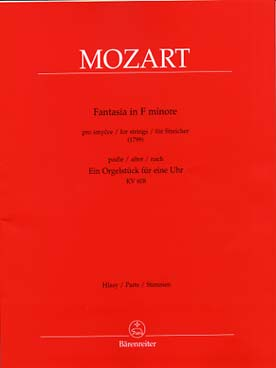 Illustration mozart fantaisie kv 608 en fa min