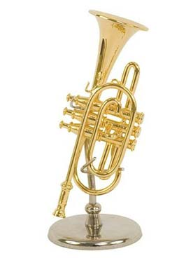 Illustration instrument miniature 1/8 e cornet