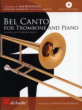 Illustration de BEL CANTO for trombone and piano : 20 vocalises de Concone - Marchesi - Tosti