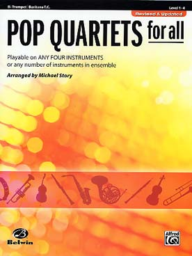 Illustration pop quartets for all trompette new