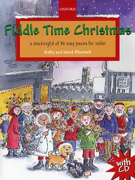 Illustration blackwell fiddle time christmas + cd