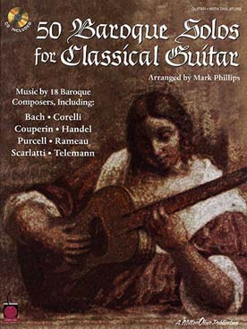 Illustration 50 baroque solos for classical guitar