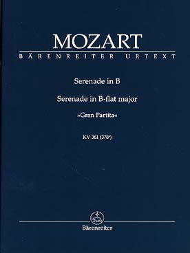 "Illustration mozart serenade k 361 ""gran partita"""