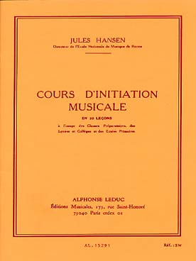 Illustration hansen cours d'initiation musicale