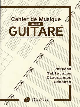Illustration cahier guitare portees/tab/grilles/diag