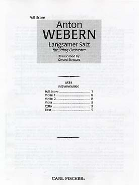 Illustration webern langsamer satz conducteur