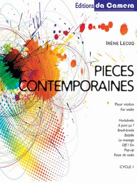 Illustration lecoq pieces contemporaines pour violon