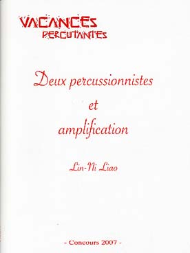 Illustration liao 2 percussionnistes & amplification