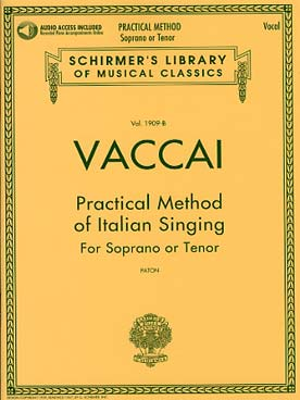 Illustration vaccai methode chant schirmer v moyen