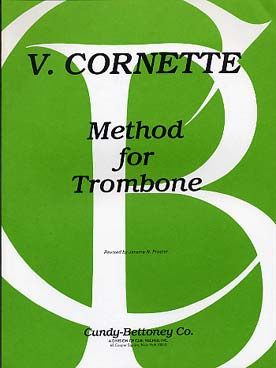 Illustration cornette method for trombone