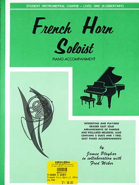 Illustration french horn solo piano acc. v. 1