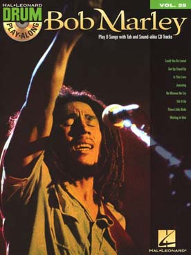 Illustration drum play along vol. 25 : bob marley