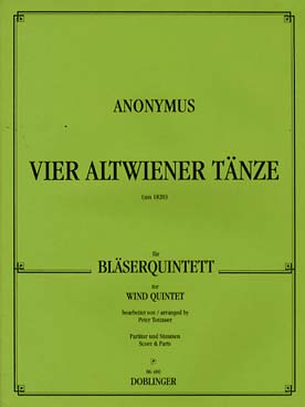 Illustration anonyme vier altwiener tanze