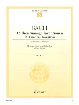 Illustration bach js inventions 3 voix bwv 787-801