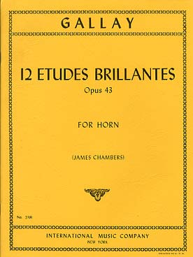 Illustration gallay etudes brillantes (12) op. 43