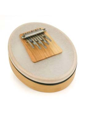 Illustration kalimba peau synthetique 9 lames