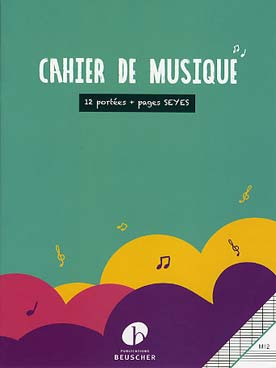 Illustration cahier format 21 x 27 - pages alternees