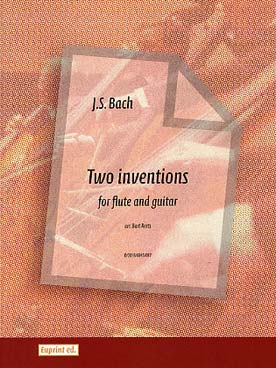 Illustration bach js two inventions