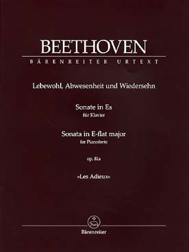 "Illustration beethoven sonate 26 op. 81a ""les adieux"""