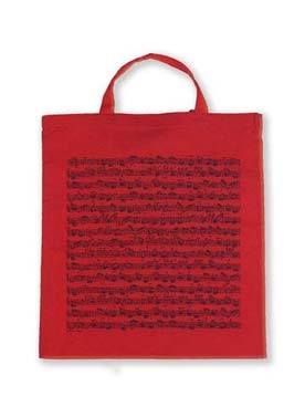 Illustration sac-partition rouge motif partition