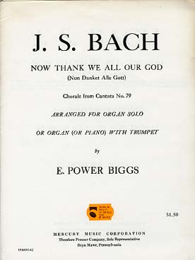Illustration bach js now thank we all our god