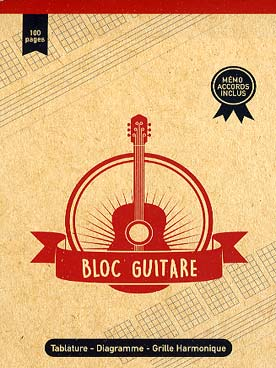 Illustration bloc flles detachables guitare port/tab