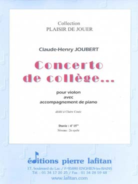 Illustration joubert concerto de college